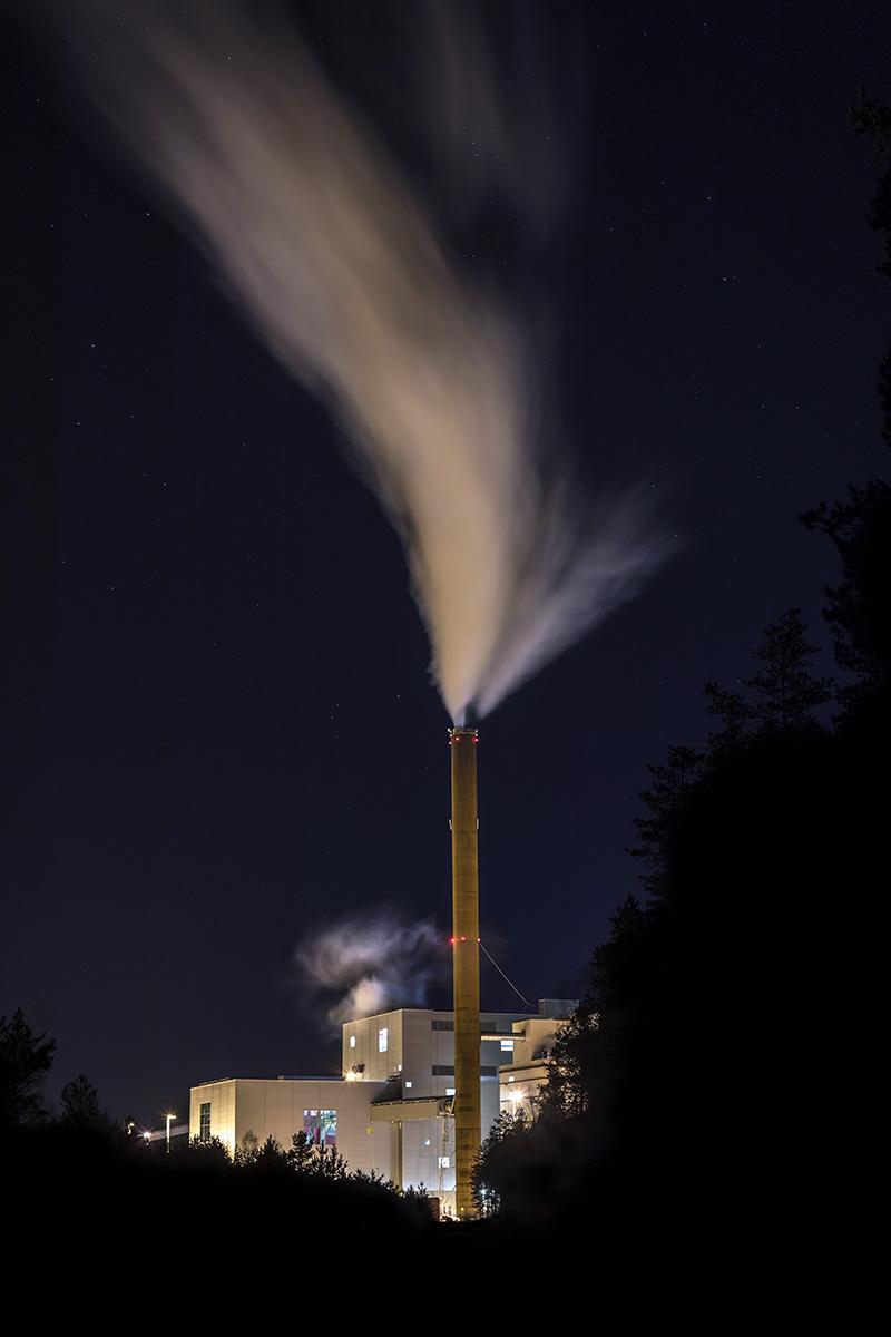 Kraftvärmeverket Dåvamyra utanför Umeå
