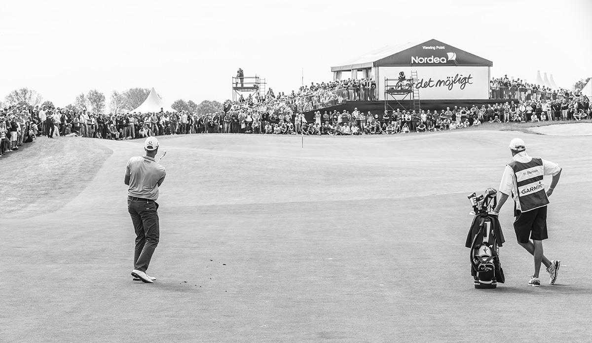 Golfspelaren Henrik Stenson under golftävling