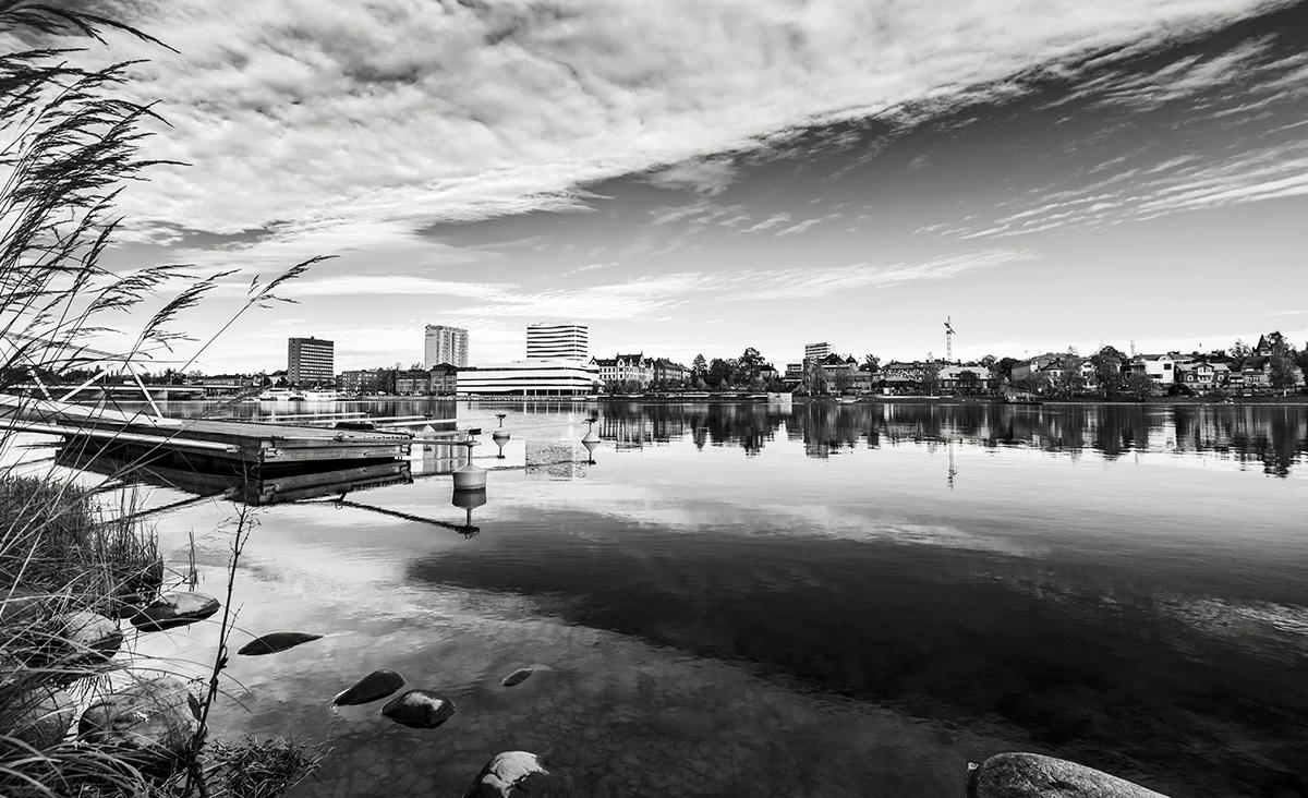 Stadsvy över centrala Umeå